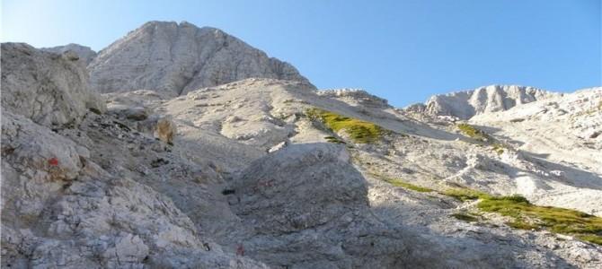 26.9,2021 Pohod Sella Nevea(Rifugio Gilberti)-Findeneggov ozebnik-ferata Julia-Visoki Kanin(2587m)-ferata Prestreljenik-Preval-Rifugo Gilberti