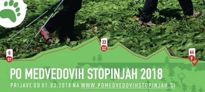 """21.4.2018 Vztrajnostni pohod """"Po medvedovih stopinjah"""" (64km)"""