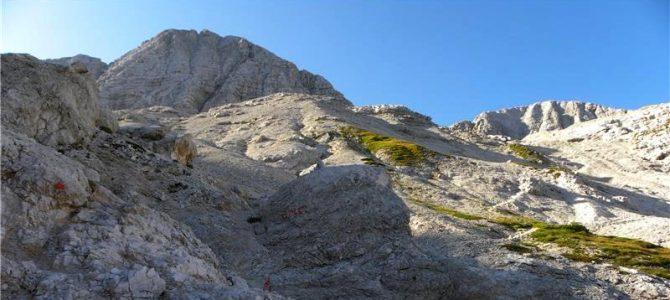 15.9.2019  Pohod Sella Nevea(Rifugio Gilberti)-Findeneggov ozebnik-ferata Julia-Visoki Kanin(2587m)-ferata Prestreljenik-Preval-Rifugo Gilberti